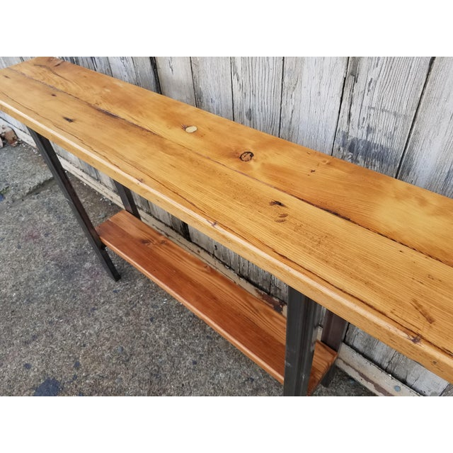Image of Reclaimed Wood Console Table