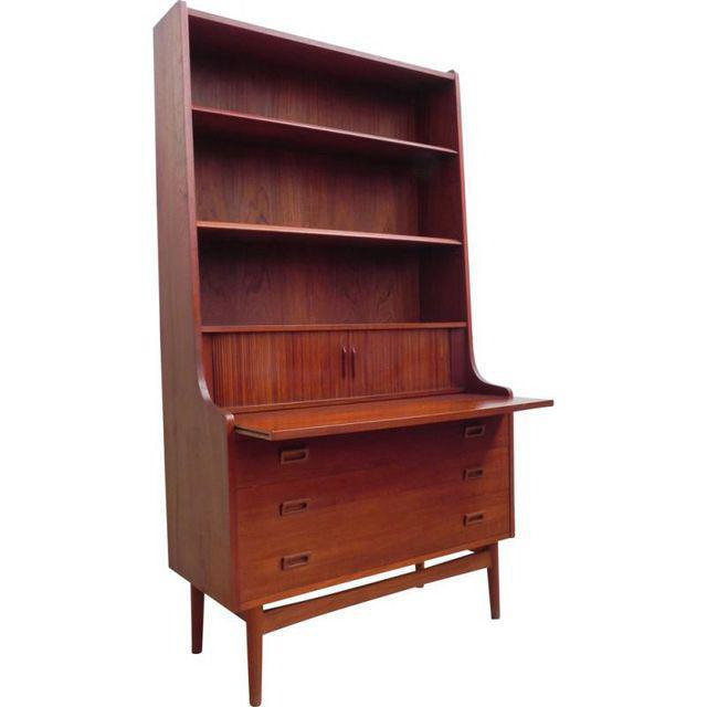 Danish Modern Secretary Bookcase - Image 3 of 6