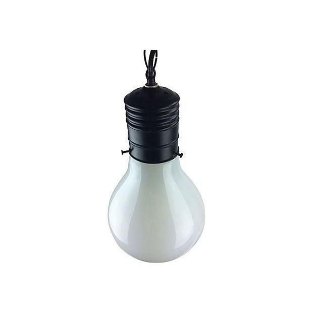 1970s Pop Art Giant Lightbulb Pendant Light - Image 5 of 5