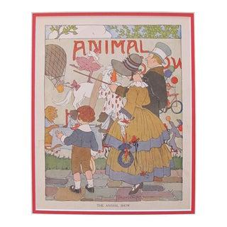 1918 British Vintage Children's Illustration, Animal Show
