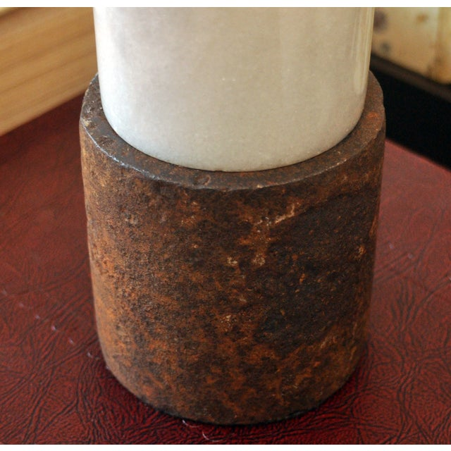 Marble Cylinder Lamp - Image 3 of 3