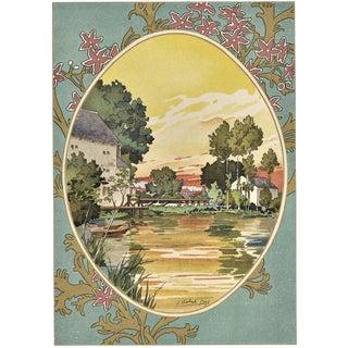 Pastoral Landscape 1900s Lithograph by Habert Dys