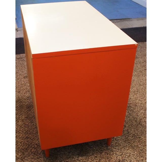 Atomic Orange Laminate Dresser - Image 6 of 11