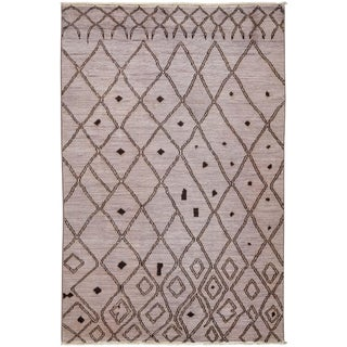 """Moroccan Over Dyed Hand Knotted Rug- 5' 9"""" x 8' 9"""""""