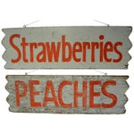 Image of 1950s Hand-Lettered Farm Produce Signs - Pair