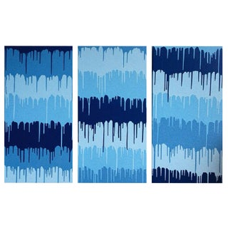 Amy Turner Original Painting - Blue Driptych