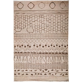 """Moroccan Hand Knotted Area Rug - 5'10"""" X 9'0"""""""