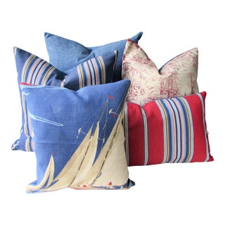 Red, White & Blue Pillow Cover Collection - Set of 5