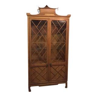 Tomlinson Pagoda Greek Key Bells China Cabinet