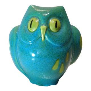 Vintage Italian Pottery Owl Bank