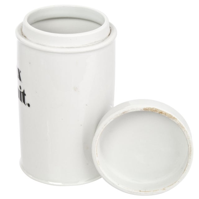 Image of Vintage Bavarian Porcelain Apothecary Jar