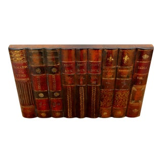 Maitland Smith Leather Books Factice