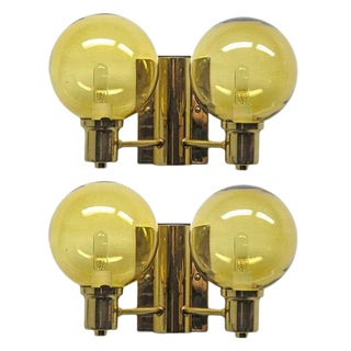 Pair of Double Arm Wall Lights by Hans Agne Jakobsen