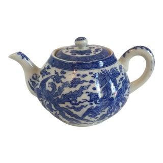 Vintage Japanese Blue & White Porcelain Teapot
