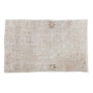 "Distressed Oushak Rug - 2'7"" X 4'"