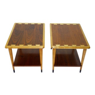 Lane Alta Vista Acclaim Series Mid Century Modern End Tables - Pair