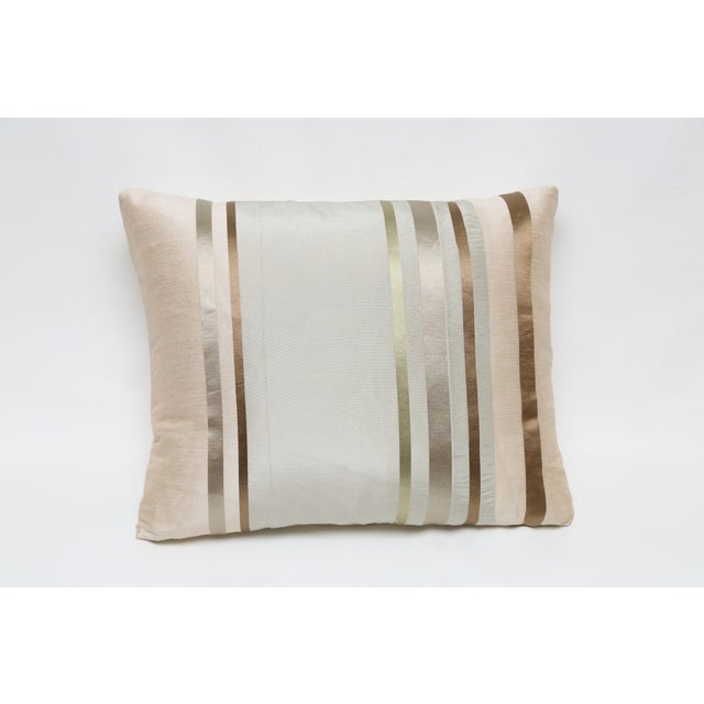 Satin Gold Bronze Stripes Decorative Pillow Chairish