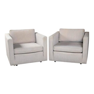 Knoll Style Mid-Century Cube Chairs - a Pair