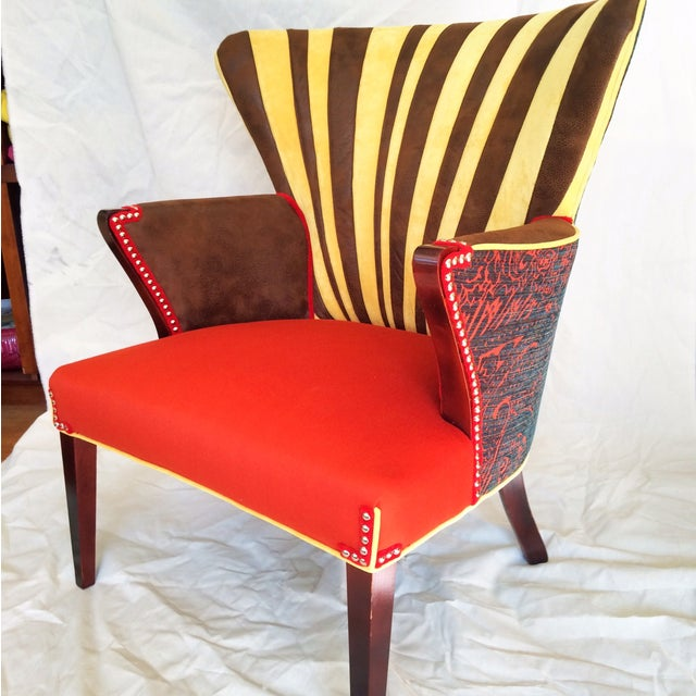 Funky Mid Century Wingback Chair Chairish