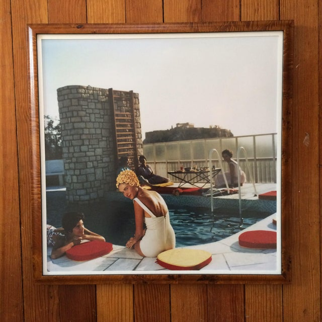 Framed Photograph - Slim Aarons Poolside - Image 2 of 3