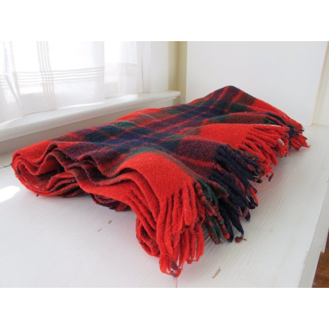 Classic Plaid Wool Blanket - Image 3 of 5