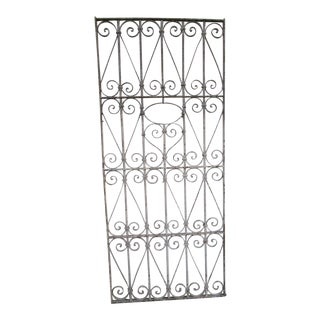 Antique Victorian Iron Gate Window Garden Fence Architectural Salvage Door #045