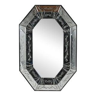 Vintage Octagonal Venetian-style Mirror