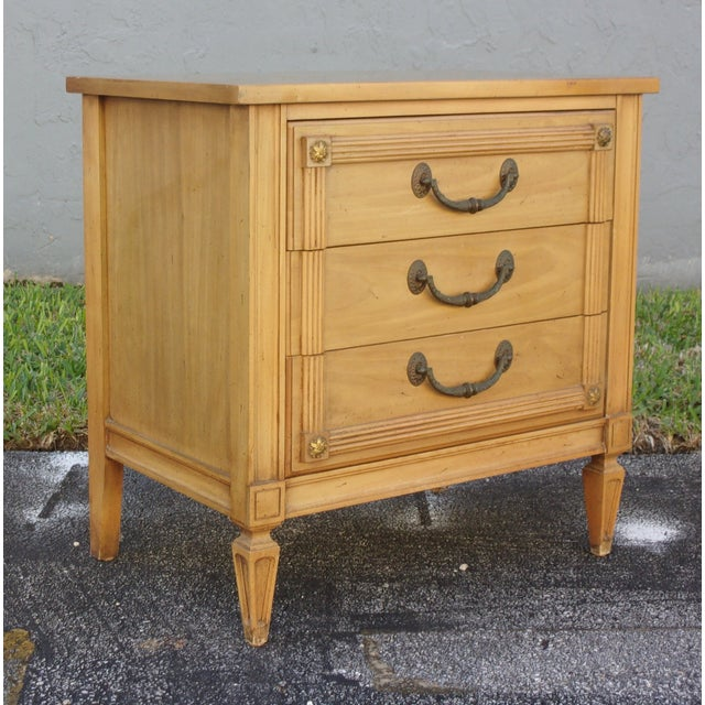 Image of Mid-Century Three-Drawer Commodes - A Pair