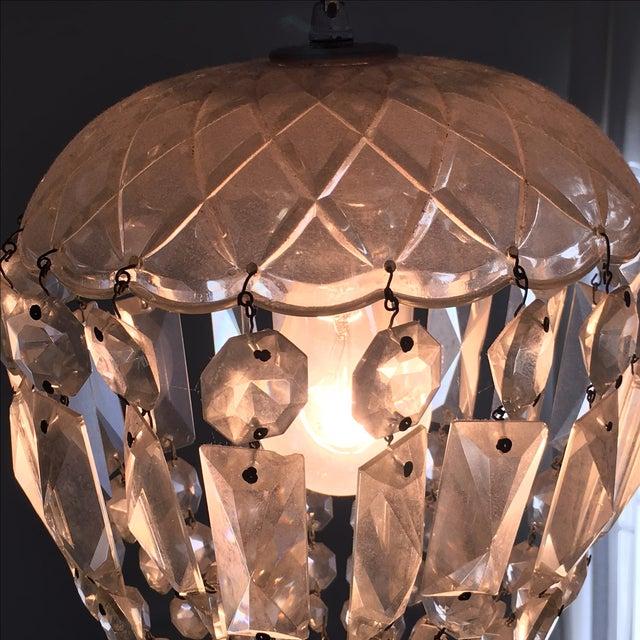 Vintage Glass Chandelier - Image 5 of 5