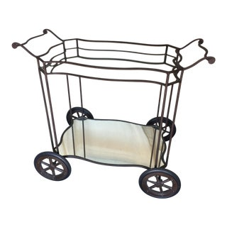 Wrought Iron Bar Car with Mirror