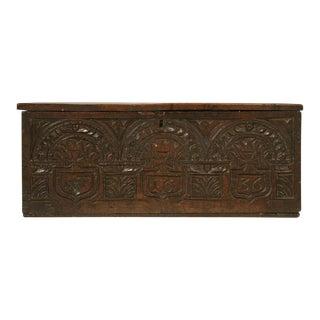 English Carved Oak Box