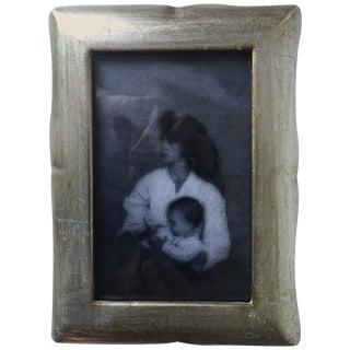 Vintage Florentine Silver Leaf Picture Frame