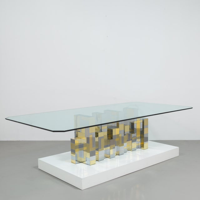 A Paul Evans Cityscape Pedestal Dining Table Base 1970s - Image 2 of 10