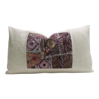 Baiza Metallic Embroidered Lumbar Pillow