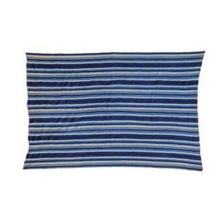 "Indigo Blue Striped Throw - 3'5"" x 5'1"""