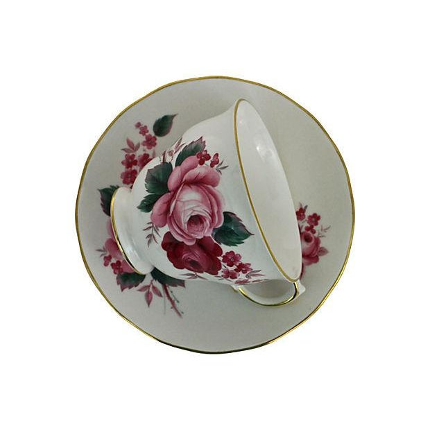 Queen Anne Teacup & Saucer - A Pair - Image 4 of 7