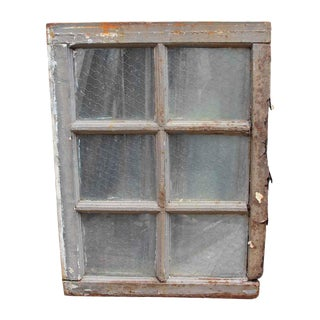 Distressed Top & Bottom Chicken Wire Glass Window