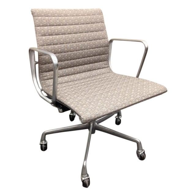Eames Taupe Aluminum Group Chair Chairish