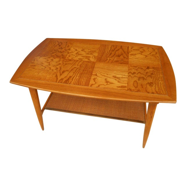Mcm Vintage Tomlinson Tiger Maple Coffee Table Chairish