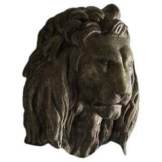 Vintage Massive French Lion Head Theatrical Prop circa 1960