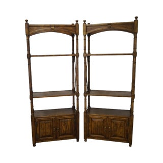 Vintage Heritage Regency Oak Bookcases - A Pair
