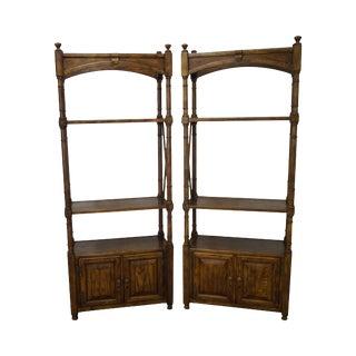 Vintage Heritage Regency Oak Bookcases - A Pair