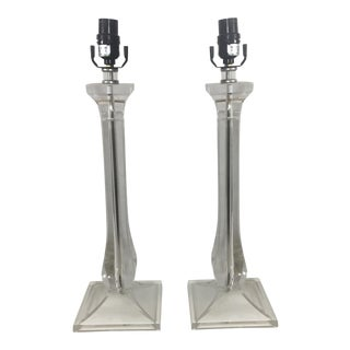 Contemporary Lucite Lamps - A Pair