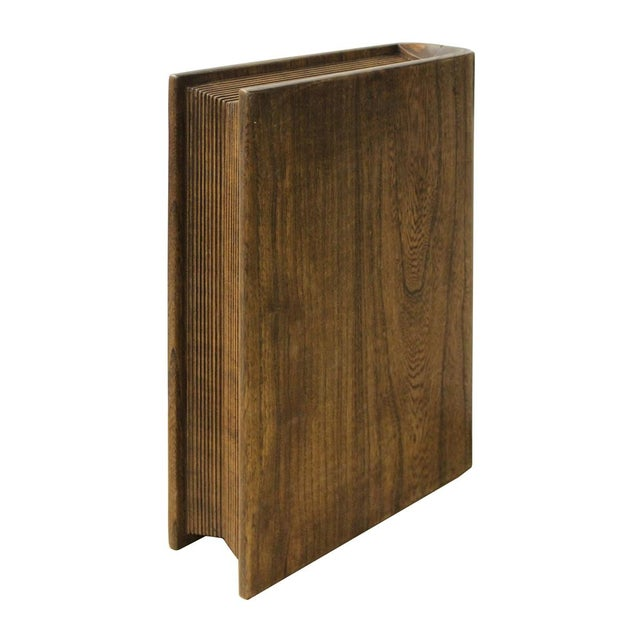 Handmade Solid Wood Island Units: Handmade Solid Wood Book Shape Storage Box For Book And