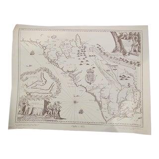 Reproduction C.1672 North/ South Carolina Map