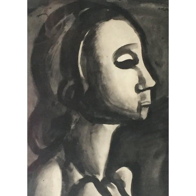 Georges Roualt Portrait of Woman 1922 - Image 4 of 5