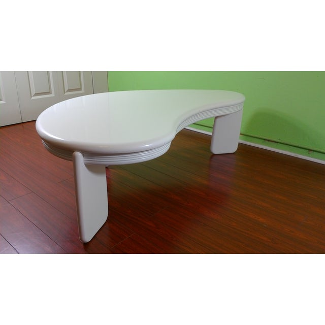 Kidney Shaped Coffee Table - Image 7 of 11