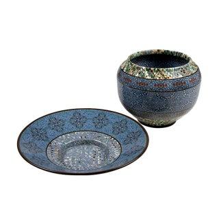 Two Mosaic Ceramics by Gerbino