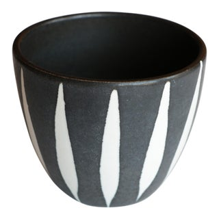 Mid Century Black and White Planter