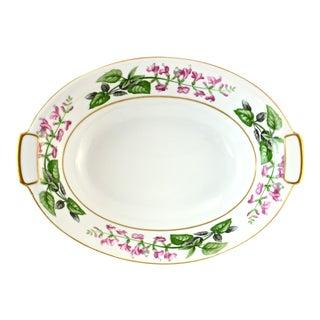 1940s Japanese Pink Floral Porcelain Bowl